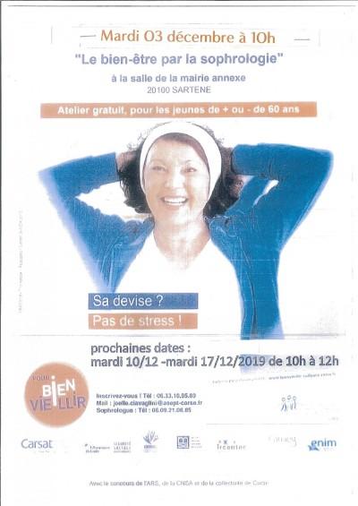 Atelier bien-être et sophrologie pour les seniors - Sartène