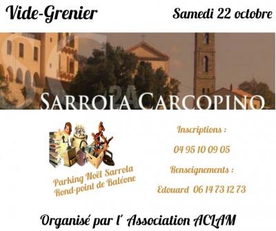 Vide-grenier de l'Association ACLAM à Sarrola-Carcopino