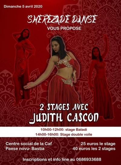 Stages de danse orientale avec Judith Cascón - Centre Social CAF - Paese Novu - Bastia