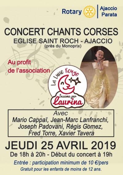 Concert chants corses - Inseme per Laurina - Eglise Saint Roch - Ajaccio