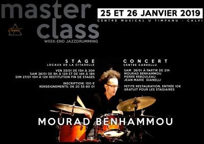 Master class de batterie animé par Mourad Benhammou - Calvi