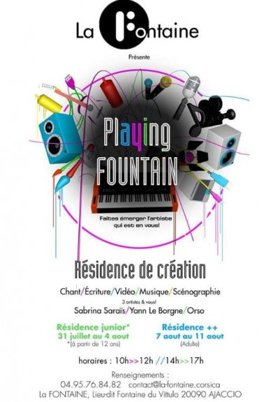 "STAGE ""PLAYING FOUNTAIN"" Résidence Juniors"