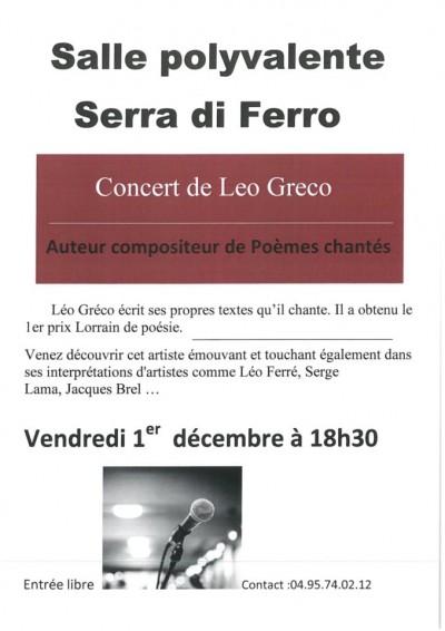 Concert De Léo Greco