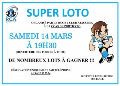 Super Loto - Rugby Club Ajaccien - CCAS Porticcio