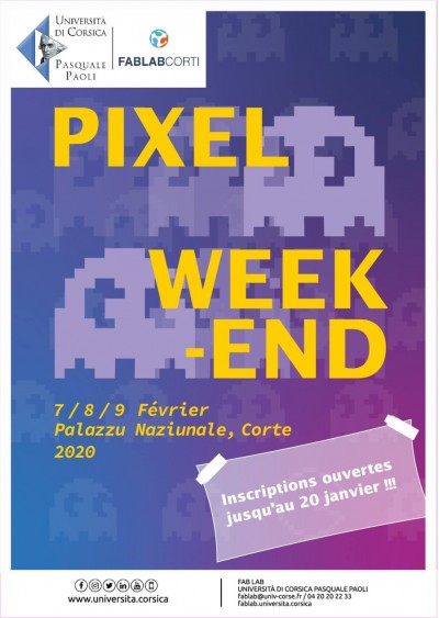 Pixel Week-End - Fablab - Palazzu Naziunale - Corté