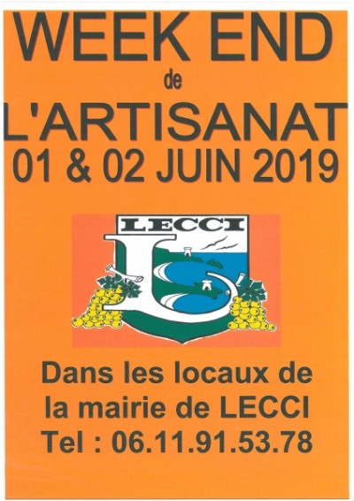 Week-end de l'artisanat de Lecci