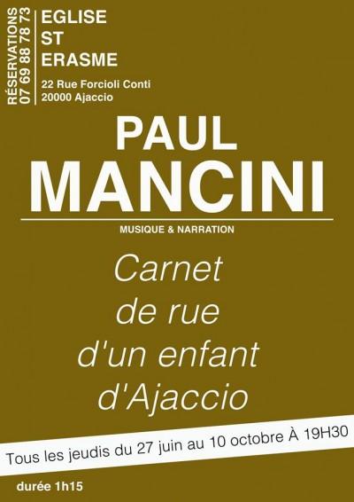 Paul Mancini - Carnet de rue d'un enfant d'Ajaccio - Eglise Saint Erasme - Ajaccio