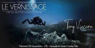 Vernissage Expo Tony Viacara - L'empreinte Caviste - Bastia