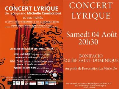 Concert lyrique de la soprano Michelle Canniccioni