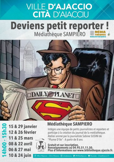 Deviens petit reporter - Médiathèque Sampiero - Ajaccio