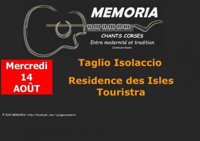 Memoria en concert à Taglio-Isolaccio