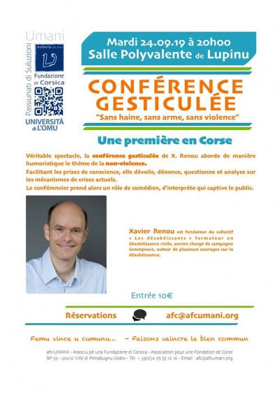 Conférence gesticulée - Salle Polyvalente - Lupino