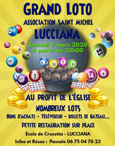 Grand Loto - Association Saint Michel - Ecole de Crucetta - Lucciana - Annulé