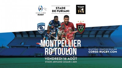Montpellier vs RC Toulon - Rugby Top 14 - Stade Armand Cesari - Furiani