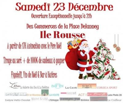 Animations de Noël de la Place Delanney - Ile Rousse