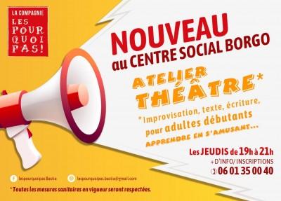 Atelier Théâtre - Les pourquoi pas Bastia - Centre social - Borgo
