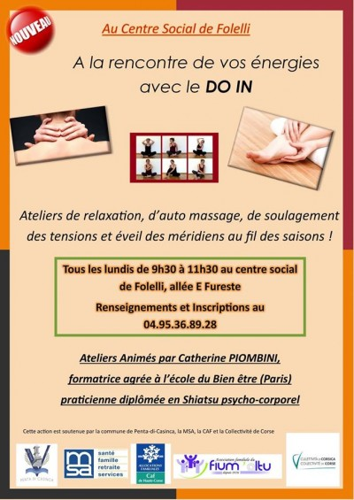 Ateliers Shiatsu - DO IN - Centre social - Folelli