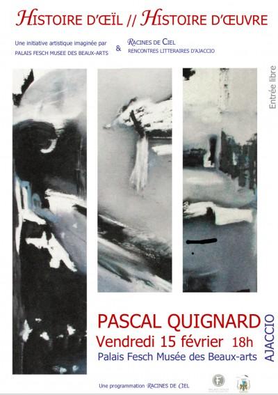 Rencontre - Lecture et causerie Pascal Quignard - Palais Fesch - Ajaccio