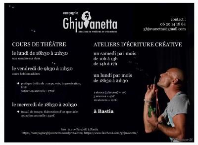 Ateliers Enfants 7/12ans - Compagnie Ghjuvanetta