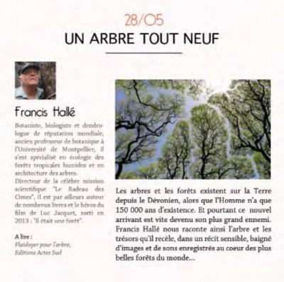 """""""Un arbre tout neuf"""", avec Francis Hallé"""