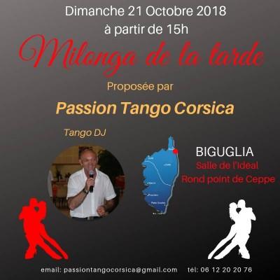 Milonga de la tarde - Passion Tango Corsica - Biguglia