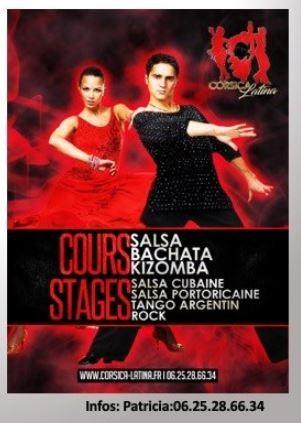 Salsa & Kizomba - Reprise des cours - Corsica Latina - CACEL - Porto-Vecchio