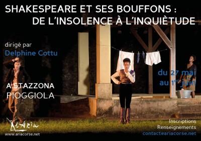 Stage - Shakespeare et ses bouffons - De l'insolence à l'inquiétude - L'Aria - Pioggiola