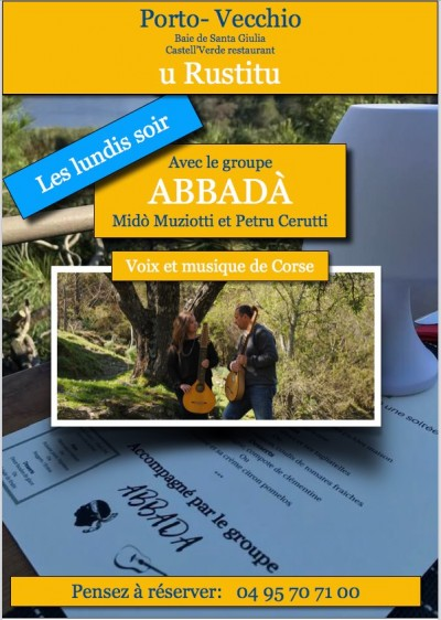 Abbadà - canti e strumenti di Corsica - Restaurant U Rustitu - Porto-Vecchio