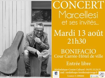 Jean-Pierre Marcellesi en concert à Bonifacio