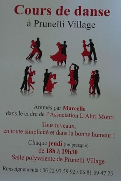 Cours de Danse -  L'Altri Monti - Prunelli Di Fiumorbu