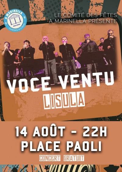Voce Ventu en concert à L'Île-Rousse