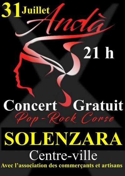 Andà - Groupe Pop Rock - Solenzara