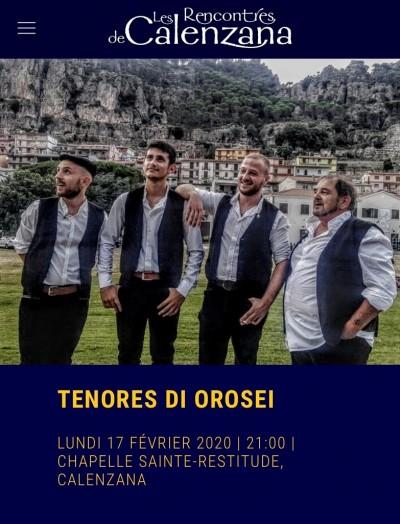 Tenores di Orosei - Les Rencontres de Calenzana - 1ère édition d'Invernale