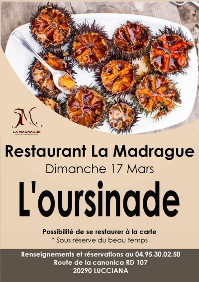 Oursinade - Restaurant La Madrague - Lucciana