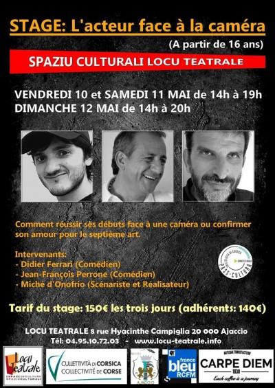 L'acteur face à la caméra -  Spaziu Locu Teatrale - Ajaccio