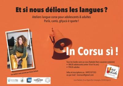 Ateliers de langue Corse - Diana Saliceti - Spaziu Locu Teatrale - Ajaccio