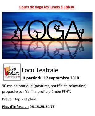 Cours de Yoga au Locu Teatrale