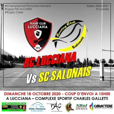 Rugby Club Lucciana Vs Sporting Club Salonais - Complexe sportif Charles Galletti - Lucciana