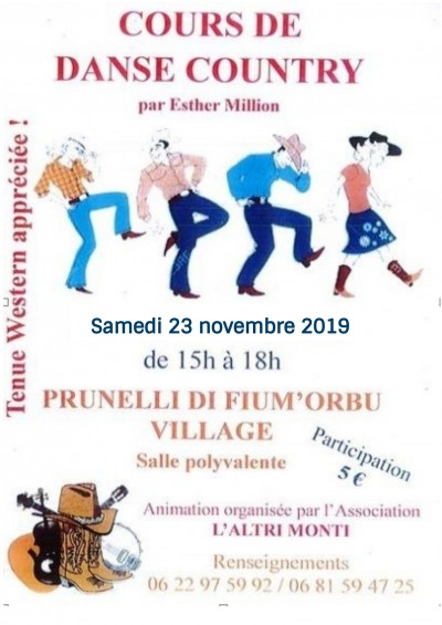Cours de Danse Country - Prunelli Di Fiumorbu