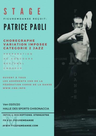 Stage Patrice Paoli - CND 2020 CAT.2 JAZZ - Halle des sports - Ghisonaccia
