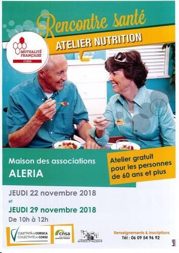 Rencontre santé - Atelier nutrition - Aleria