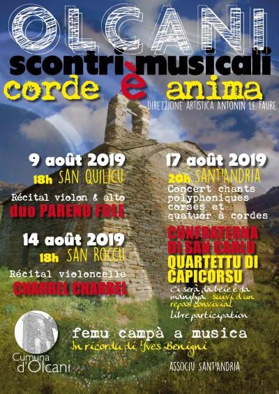 Olcani - Scontri musicali - Corde è anima - Concert Quartettu Di Capicorsu & Cunfraterna di San Carlu