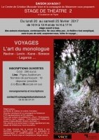 VOYAGES, l'art du monologue
