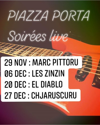 Soirées Live - Brasserie Piazza Porta - Sartène