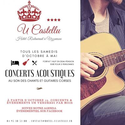 Concert acoustique - Restaurant U Castellu - Vizzavona