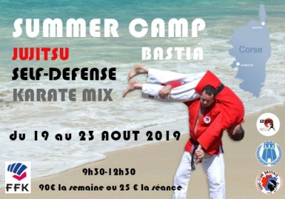 Summer CAMP Jujitsu Self-Défense - Bastia
