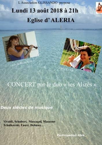 """Concert du duo """"Les Alizés"""" à Aléria"""
