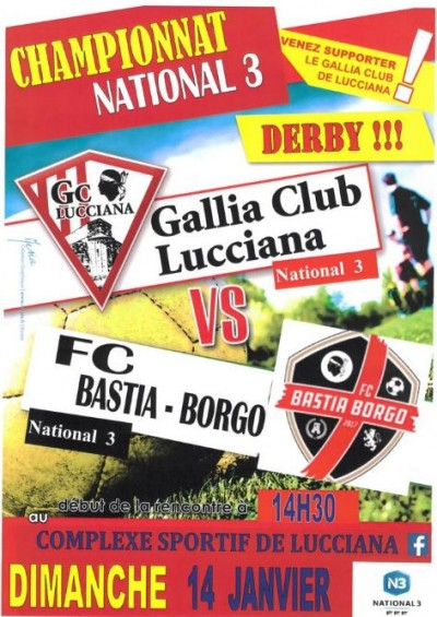 Gallia Club Lucciana - Championnat National 3