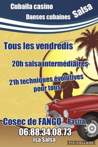 Cours de salsa et danses Cubaines - Isa Salsa - COSEC du Fango - Bastia