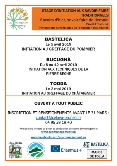 Stage d'initiation aux savoir-faire traditionnels - Bocognano